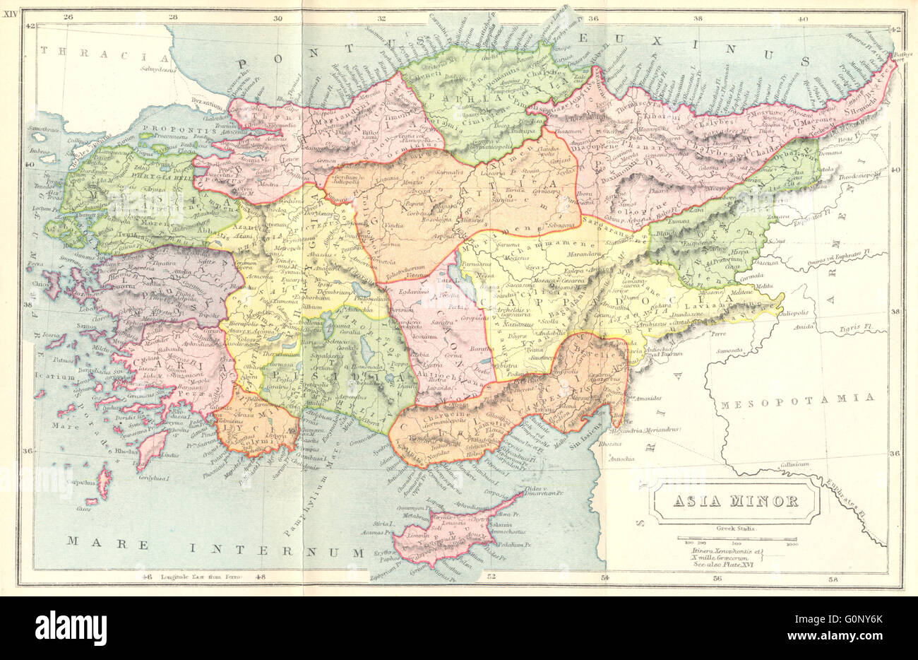Ancient map asia stock photos ancient map asia stock images alamy turkey asia minor ancient 1908 antique map stock image gumiabroncs Choice Image