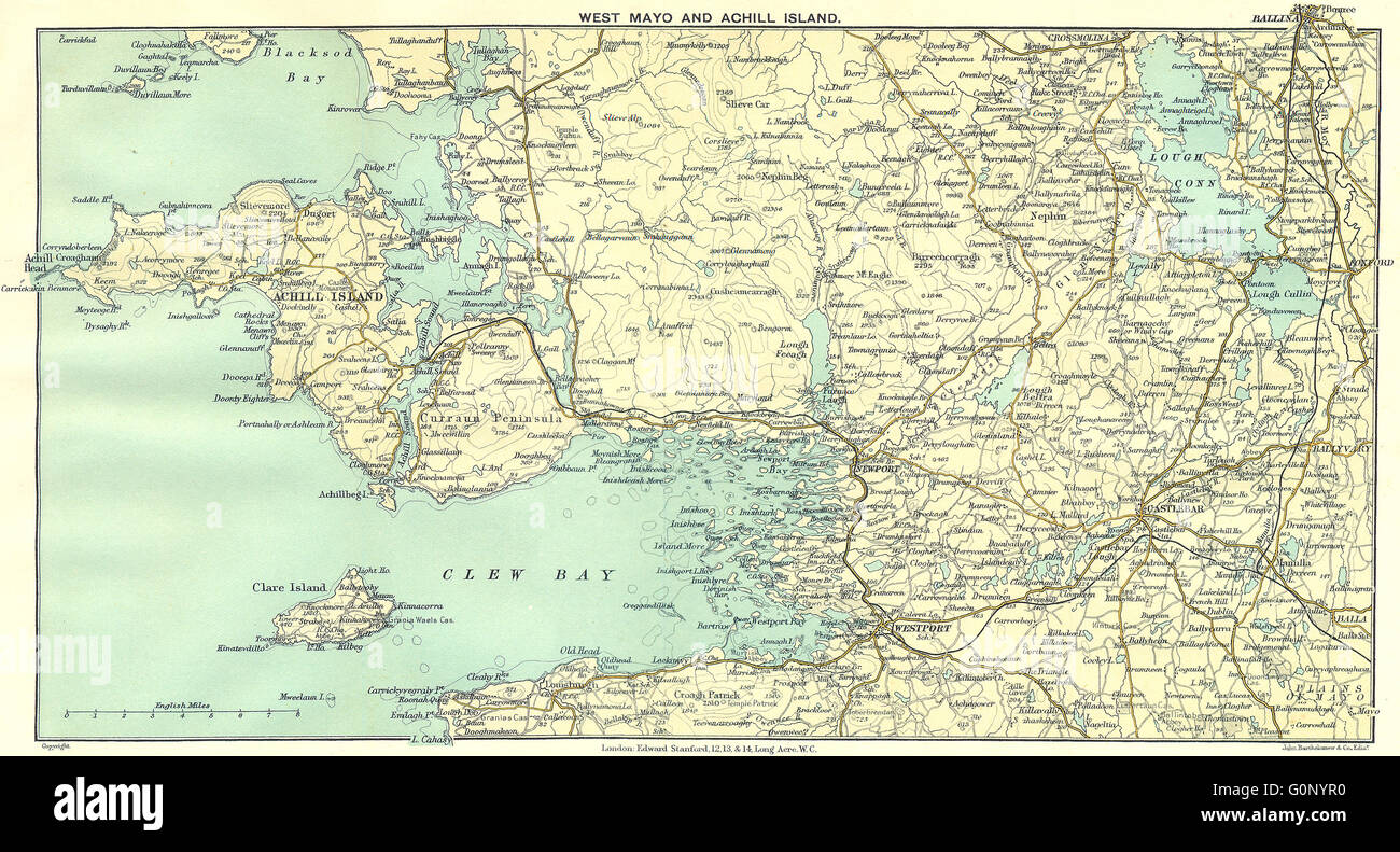 Map Of The West Of Ireland.West Ireland Map Stock Photos West Ireland Map Stock Images Alamy