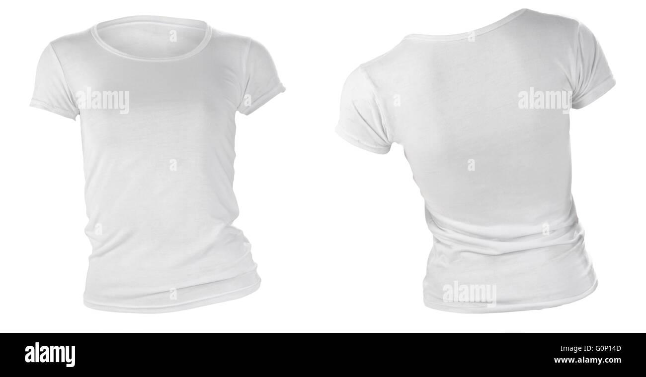 Blank T Shirt Template Front Back Stock Photos & Blank T Shirt ...