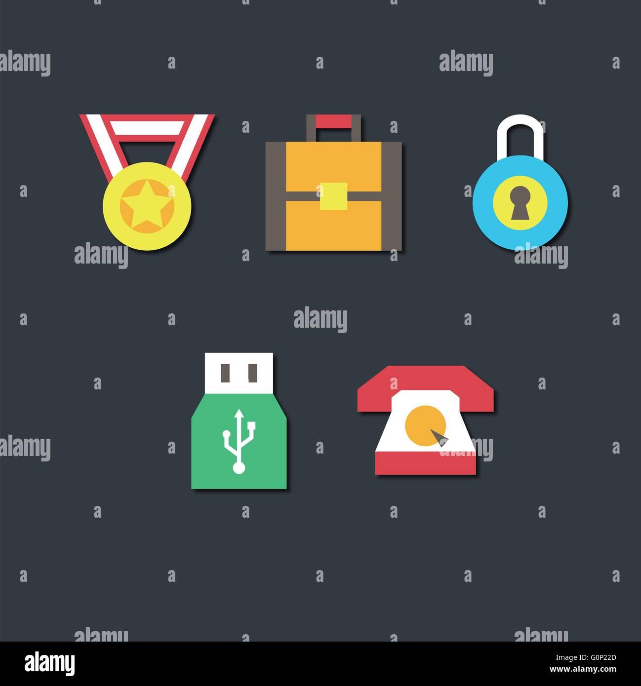 Simple Illust Icon - Stock Vector