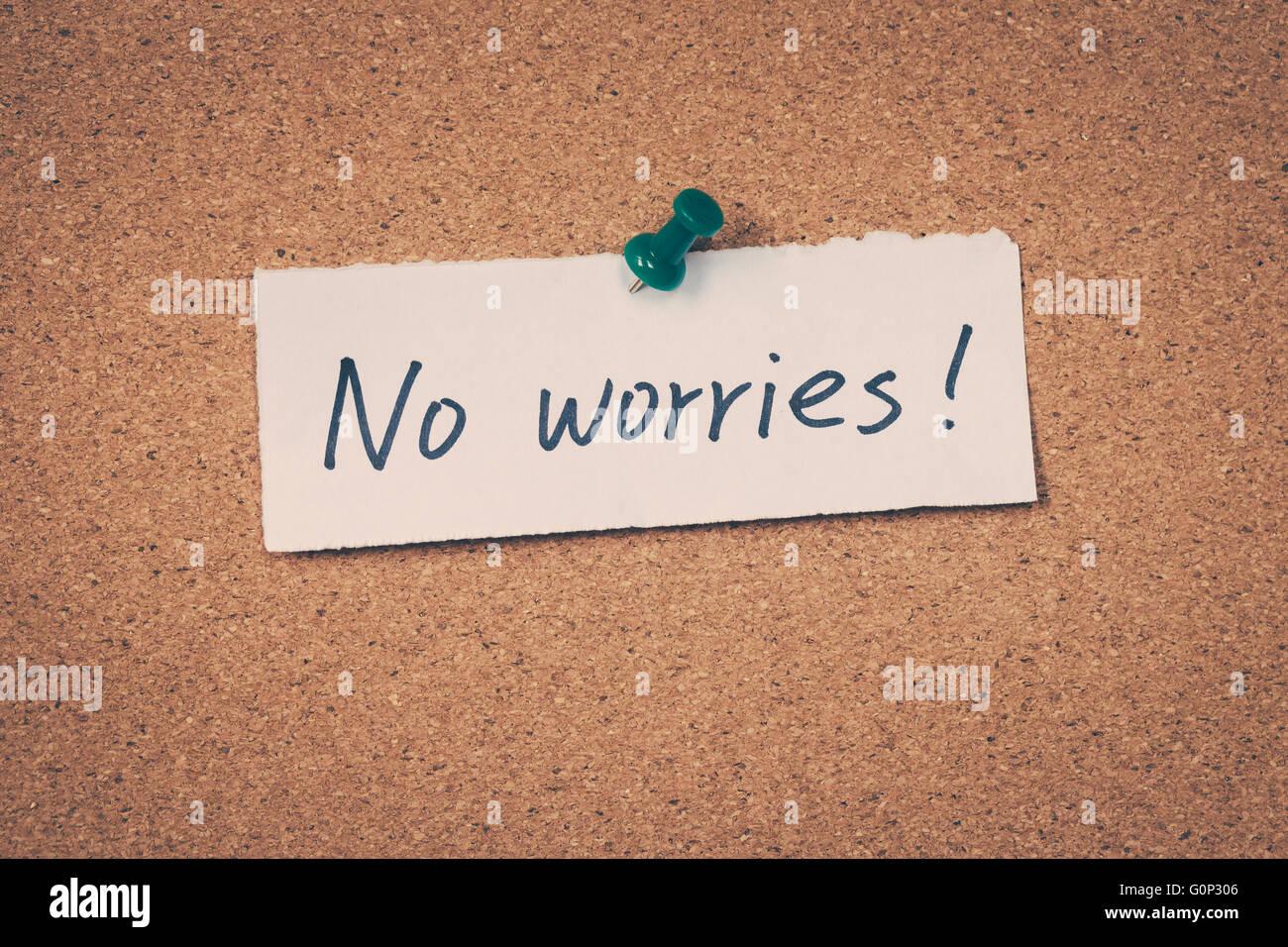 No Worries - Stock Image