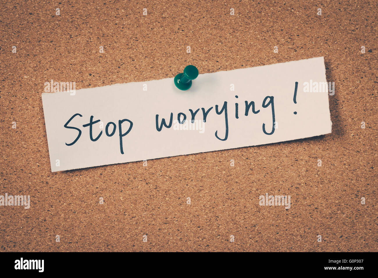 Stop Worrying - Stock Image