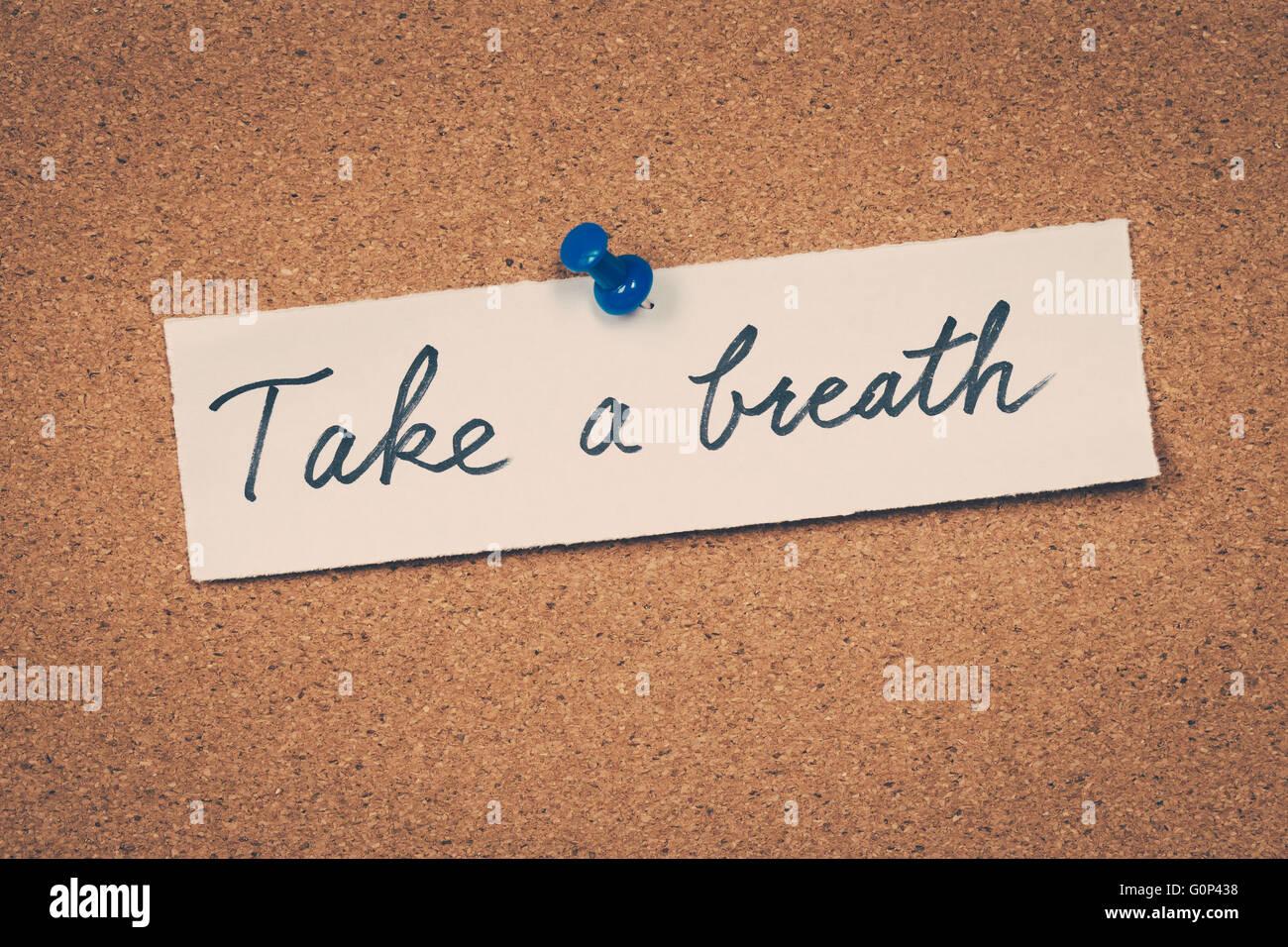 Take a breath - Stock Image