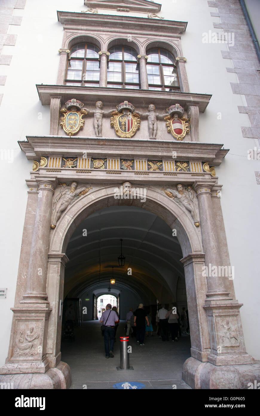 Landhaus archway, Linz, Austria, Old town - Stock Image