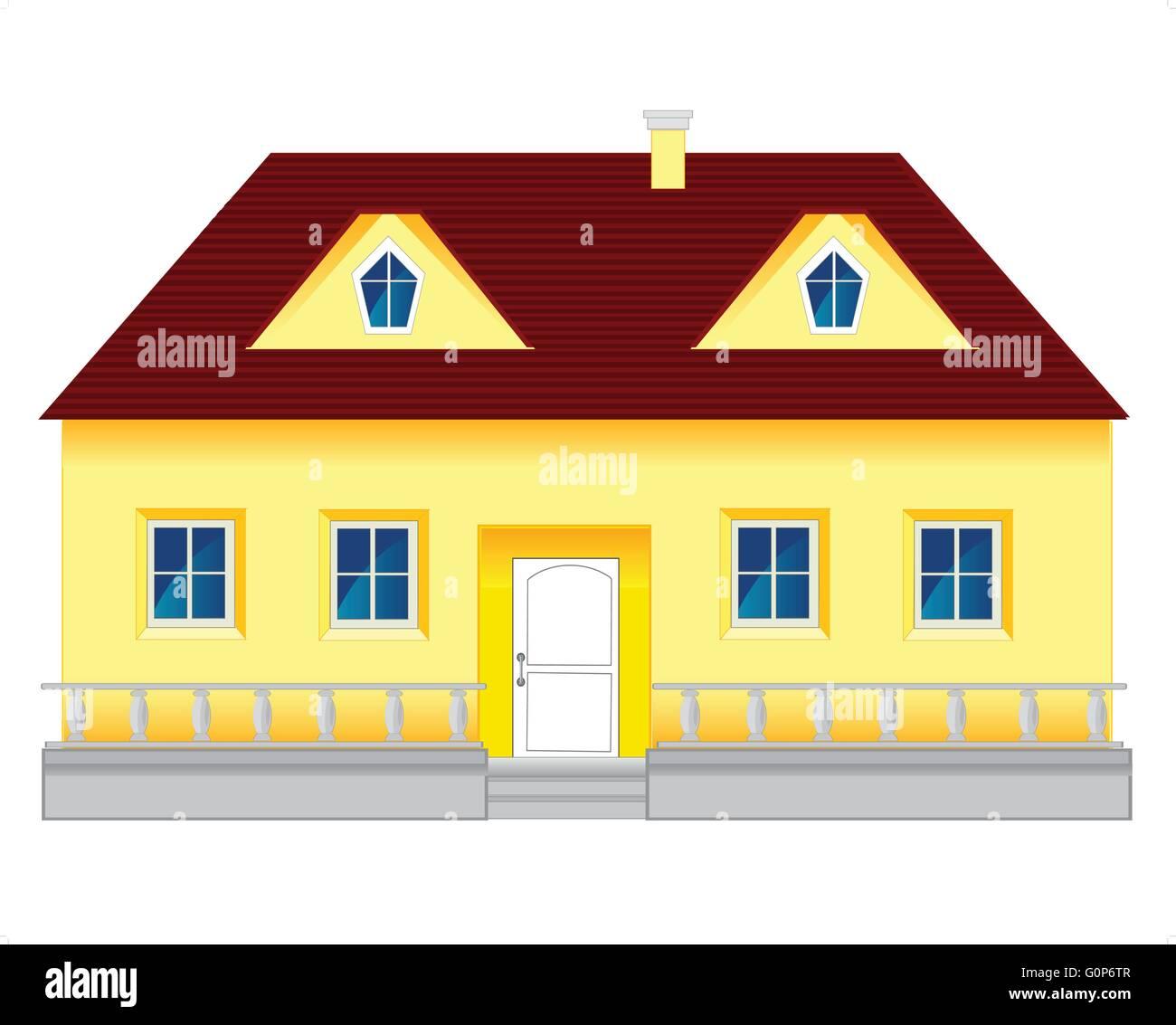 Big mansion - Stock Vector