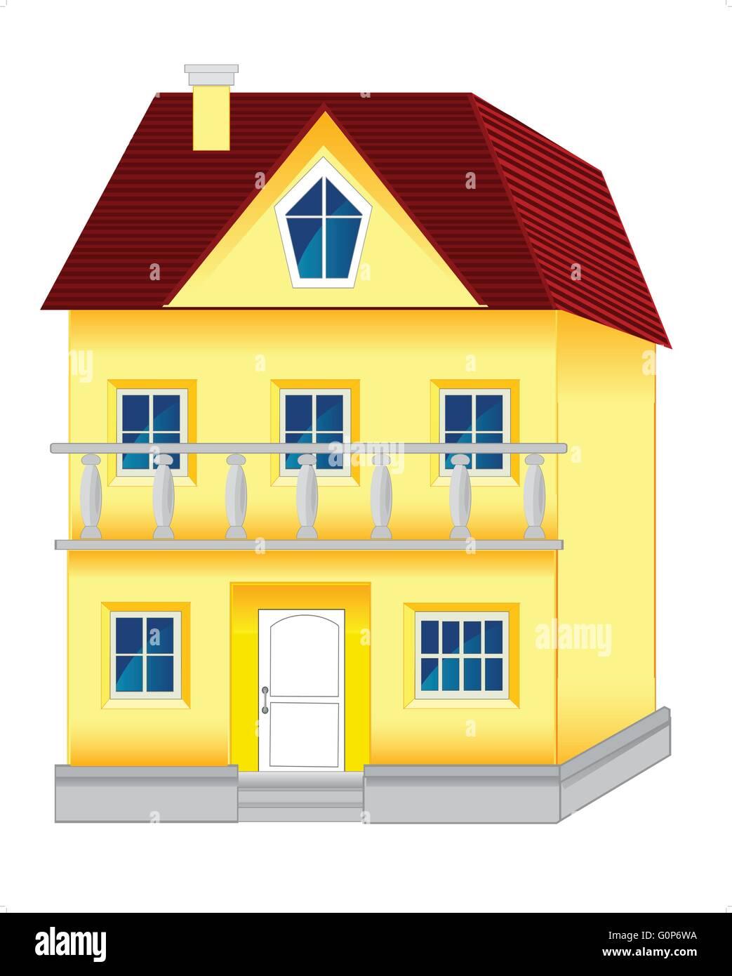 Big house - Stock Vector