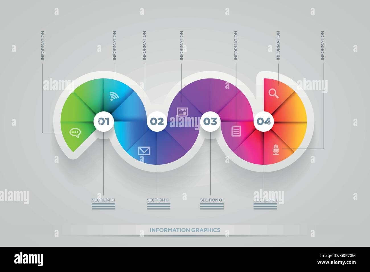 Vector abstract infographic design template. lights, shadows, color shapes etc. layered separately in vector file. - Stock Image