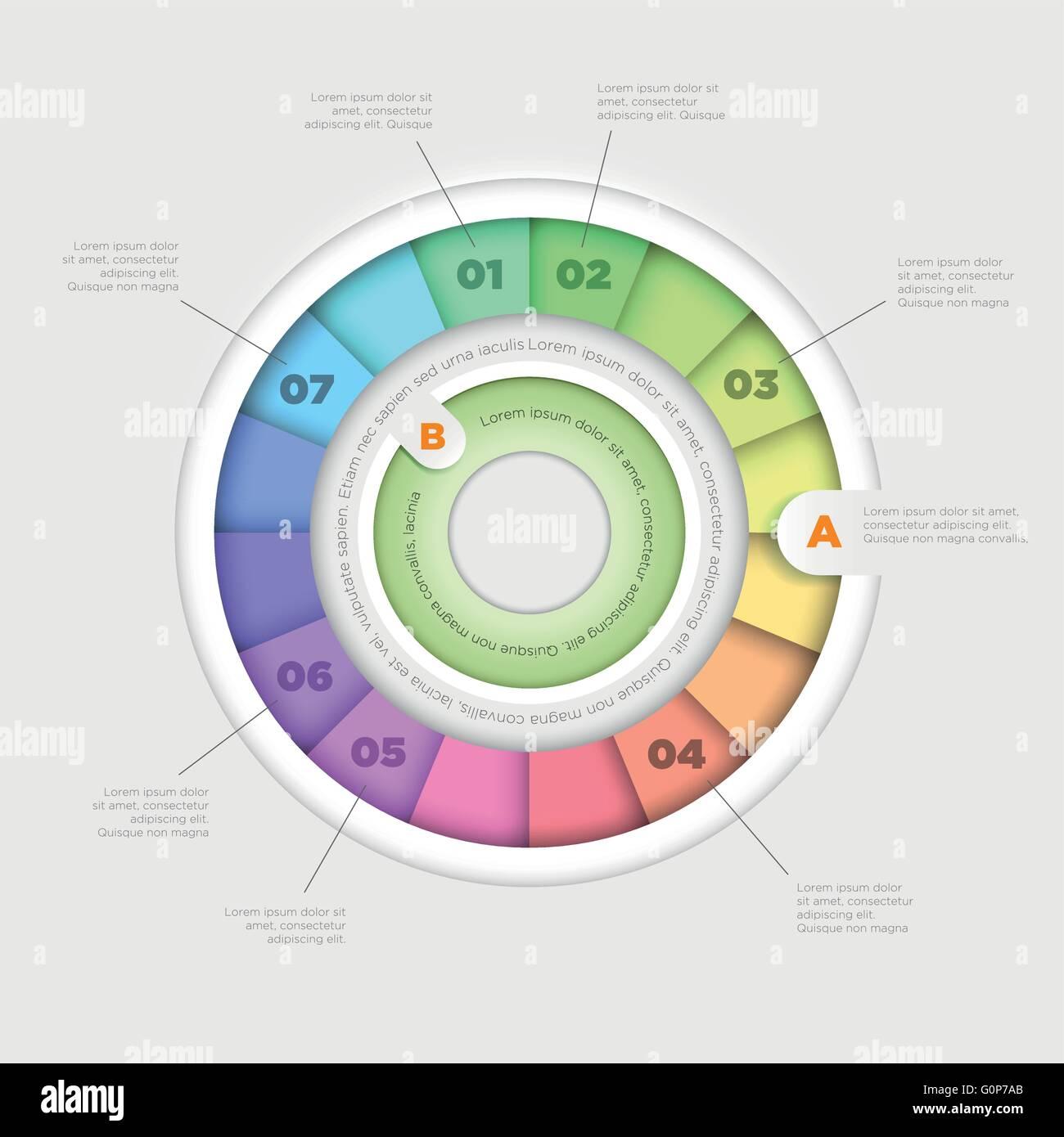 vector wheel pie chart infographic design template stock vector art