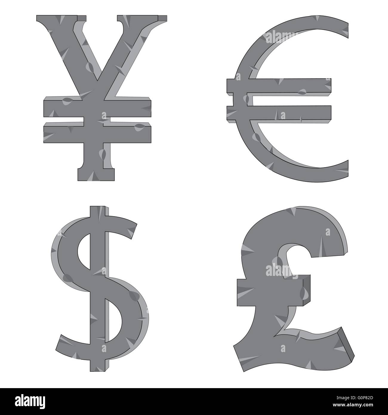 Pound Signs Cut Out Stock Images Pictures Alamy