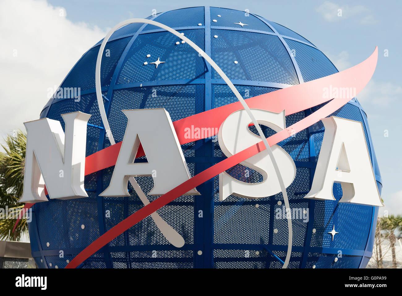 NASA Kennedy Space Center Entrance - Stock Image