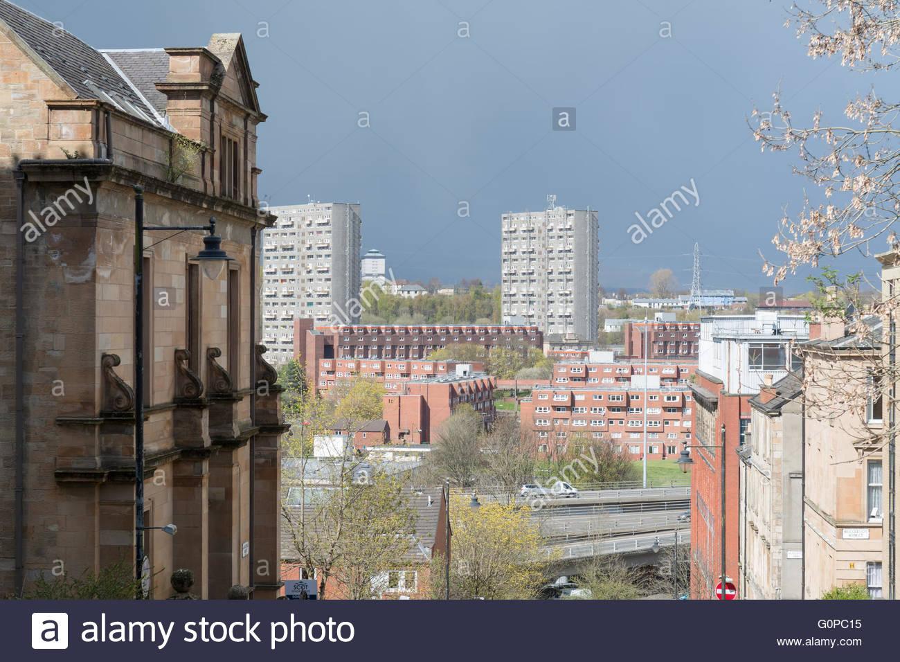 Glasgow housing styles, Scotland, UK - Stock Image