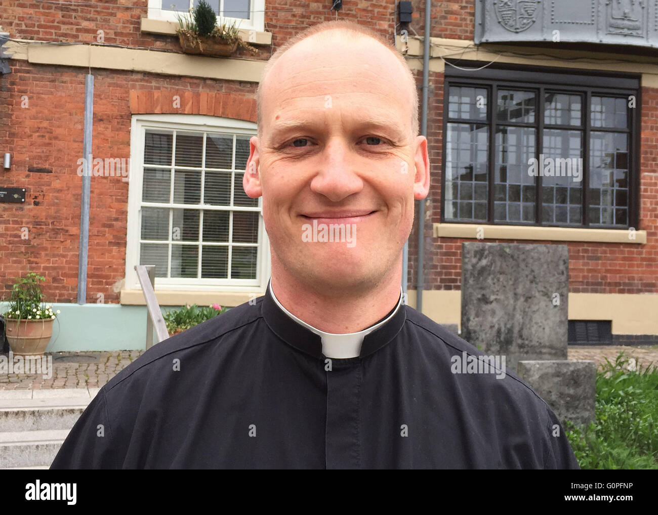 Leicester, Great Britian. 1st May, 2016. Johannes Arens, vicar of Leicester Cathedral pictured in Leicester, Great - Stock Image