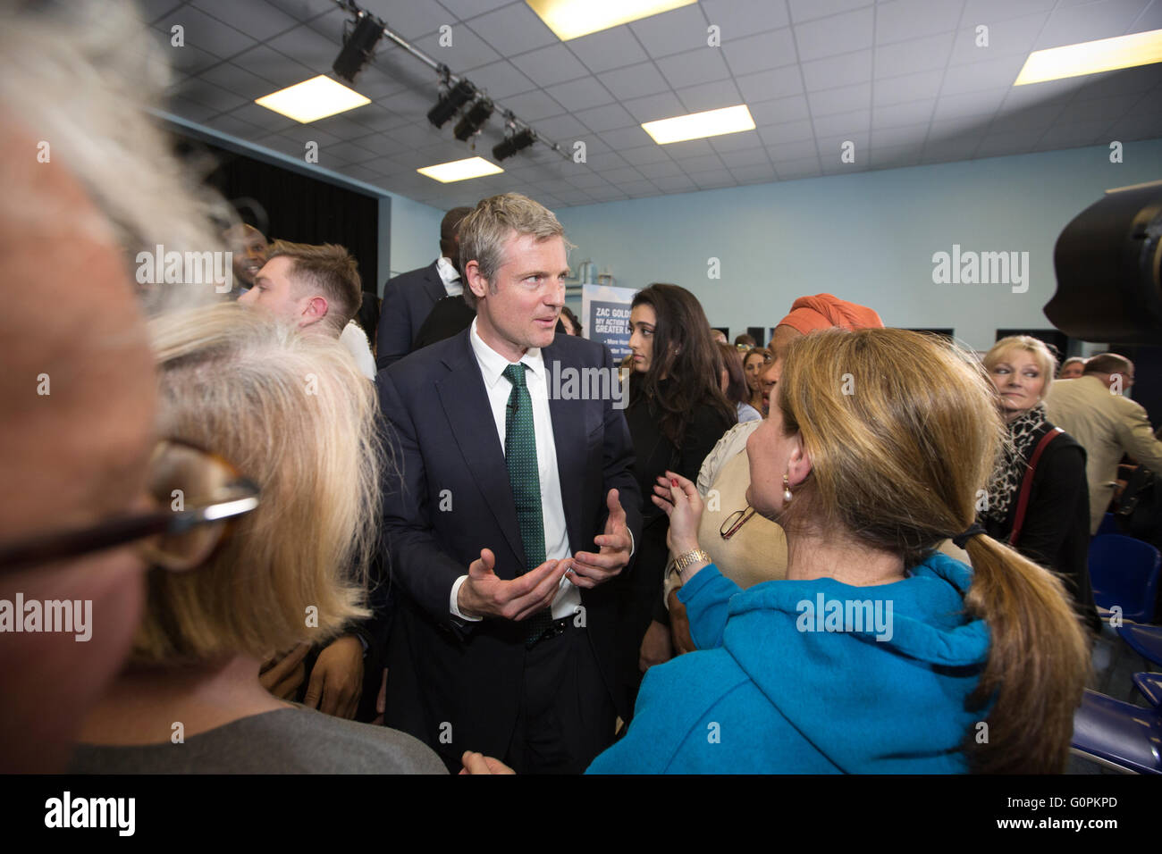 Richmond, Greater London, England, UK 03rd May 2016 The Conservative Mayoral candidate Zac Goldsmith MP for Richmond - Stock Image