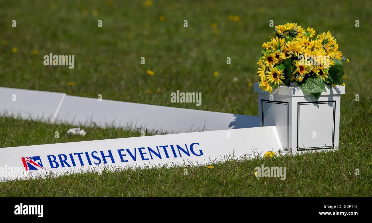 Badminton House, Badminton, UK. 04th May, 2016. Mitsubishi Motors Badminton Horse Trials. Day One. British Eventing - Stock Image
