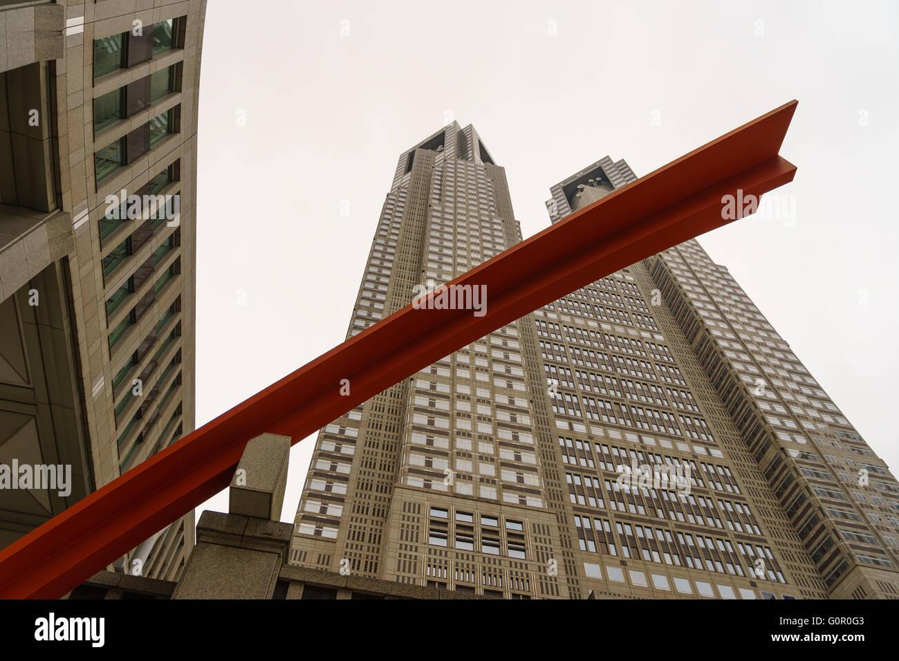 Tokyo Metropolitan Government Building, Shinjuku, Tokyo, Japan. - Stock Image