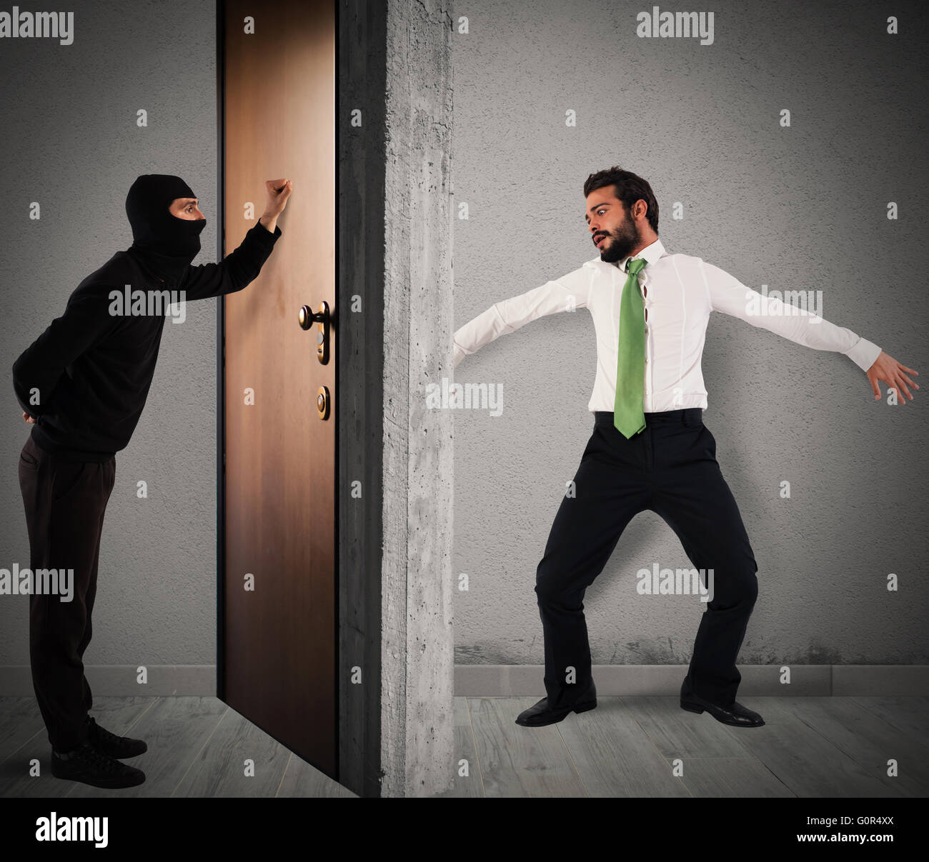Polite thief - Stock Image