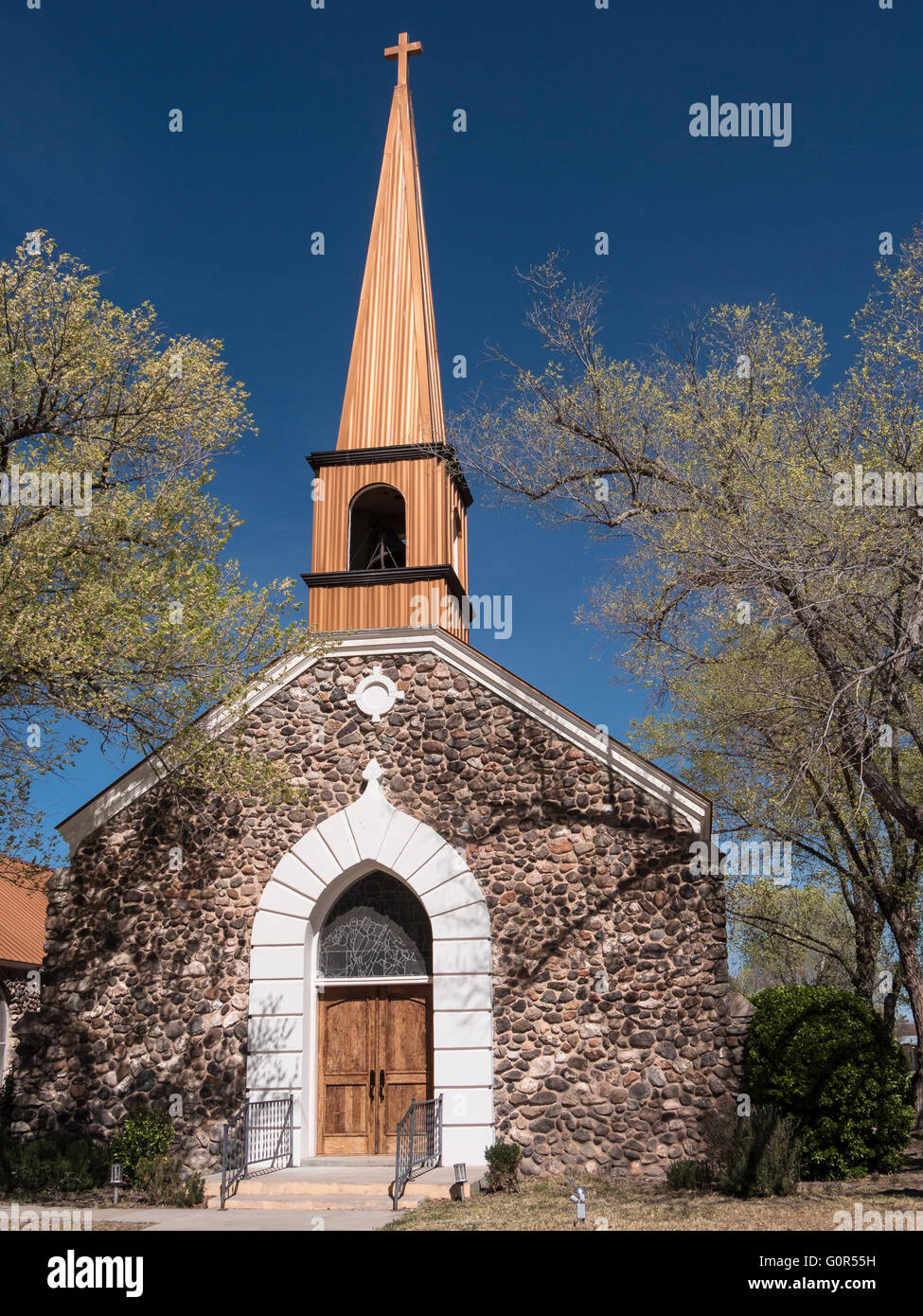 Saint Paul's Episcopal Church, Marfa, Texas. - Stock Image