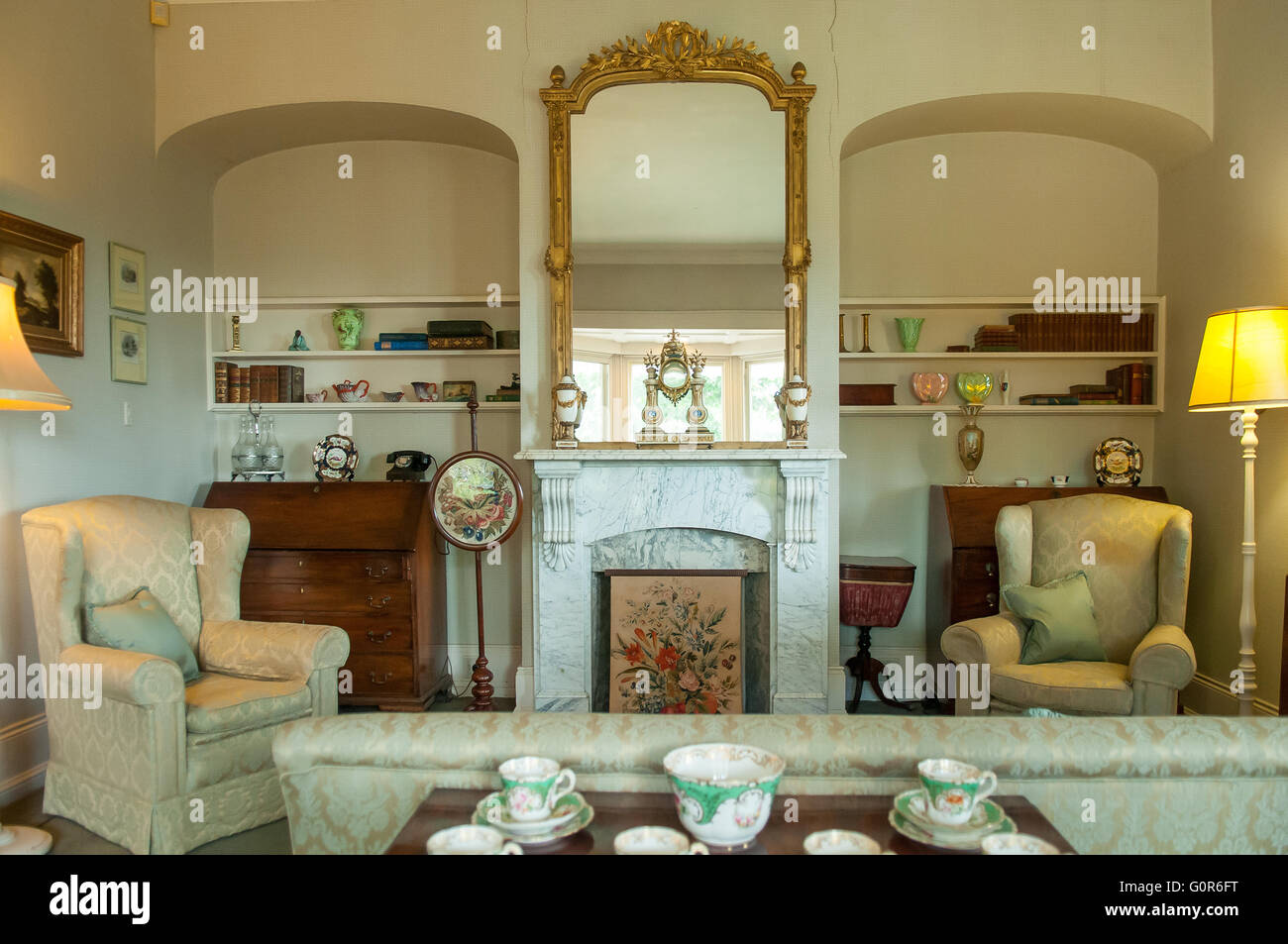 Sitting Room, The Heights Heritage House, Newtown, Victoria, Australia - Stock Image