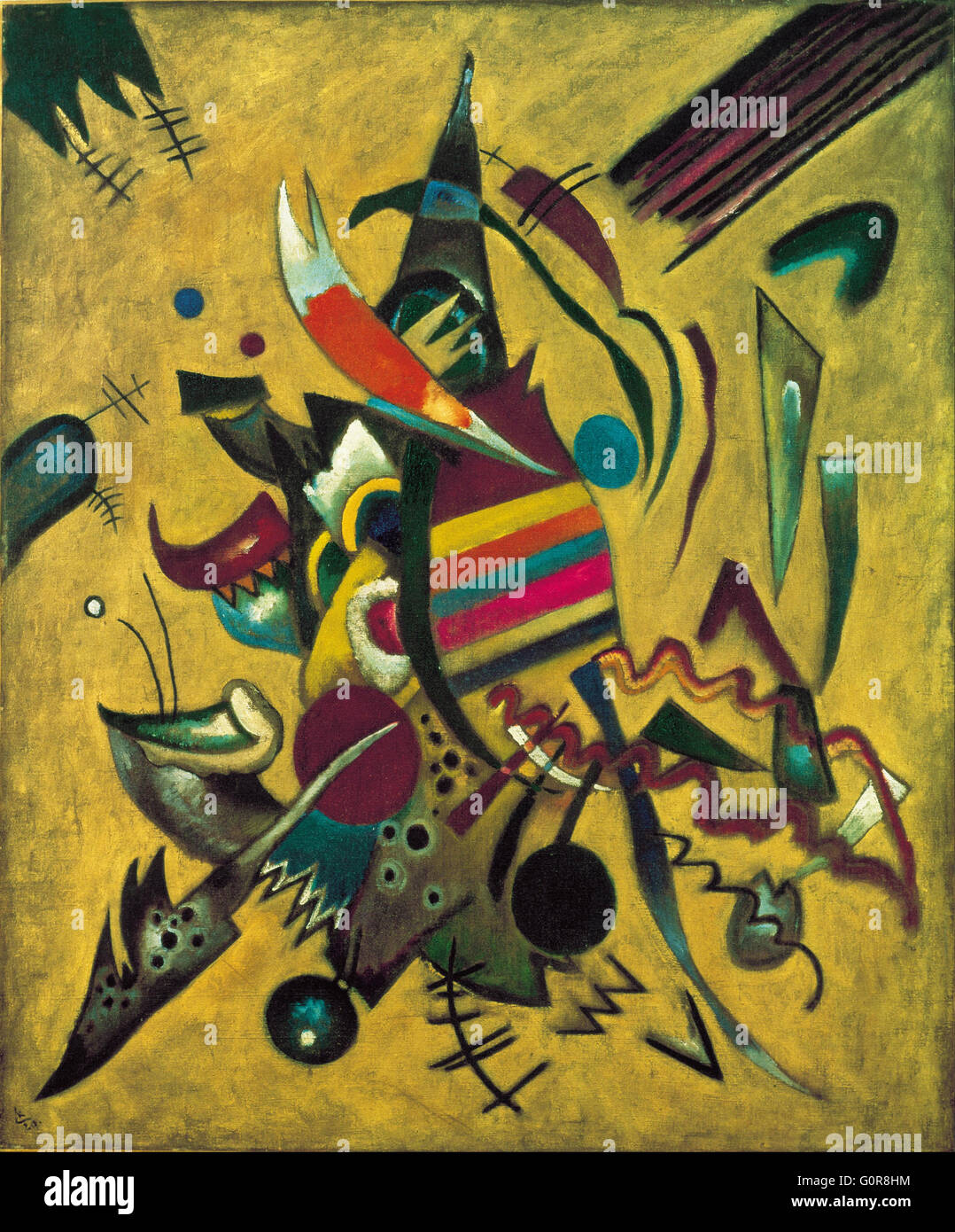 Wassily Kandinsky, 1920 - Points - Ohara Museum of Art, Japan - Stock Image