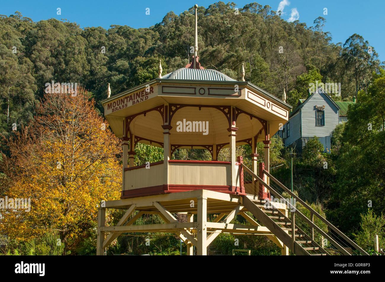 Mountaineer Brass Bandstand, Walhalla, Victoria, Australia - Stock Image