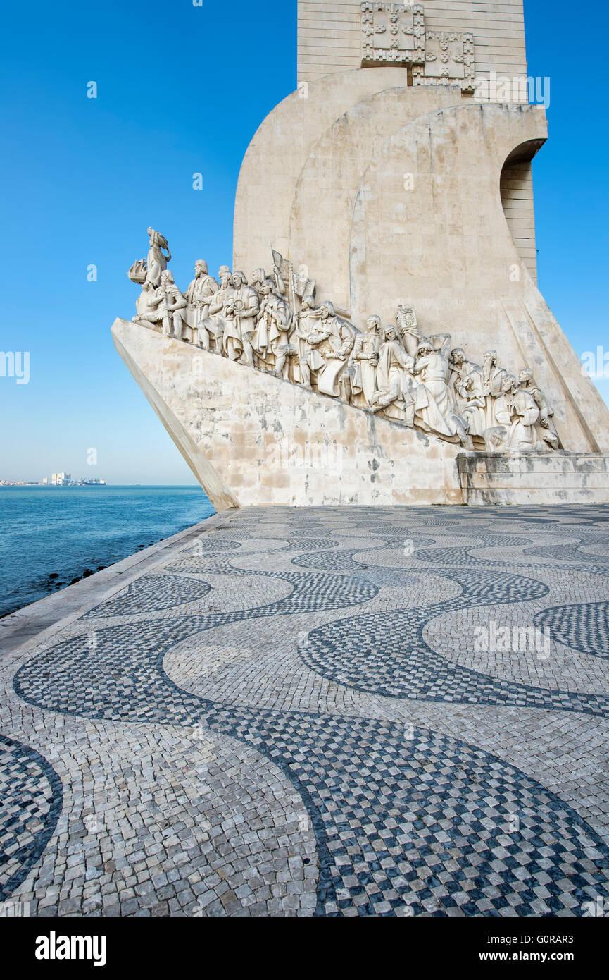 Monument to the Discoveries (Padrão dos Descobrimentos), Belem district, Lisbon, Portugal - Stock Image