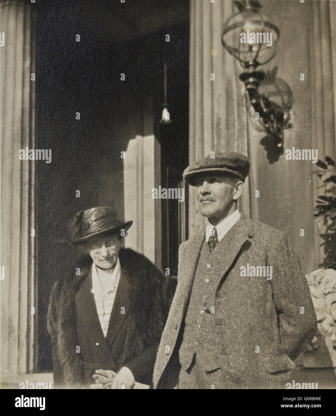 Historical Black and White Photograph man and woman - Stock Image