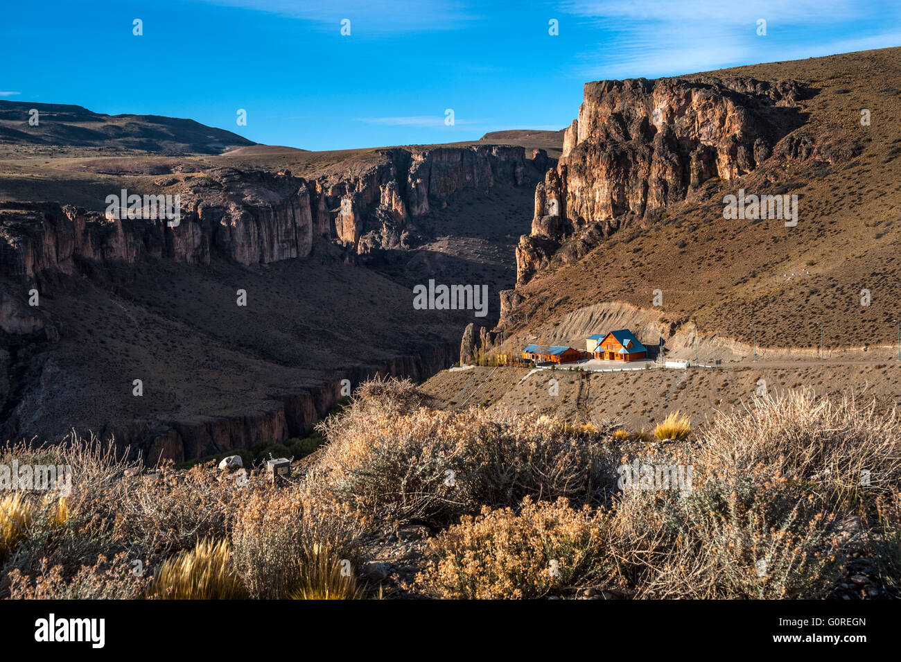 Pinturas River Canyon and the Cave of the Hands - Argentina - Stock Image
