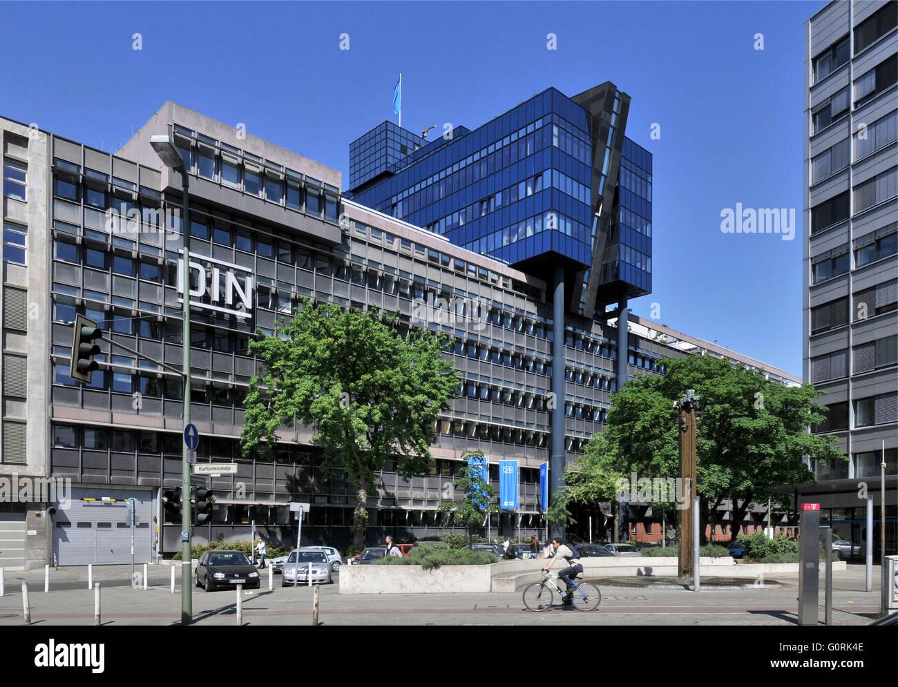 Deutsches Institut fur Normung, Burggrafenstrasse, Tiergarten, Berlin, Germany / DIN, Deutsches Institut f?r Normung, - Stock Image