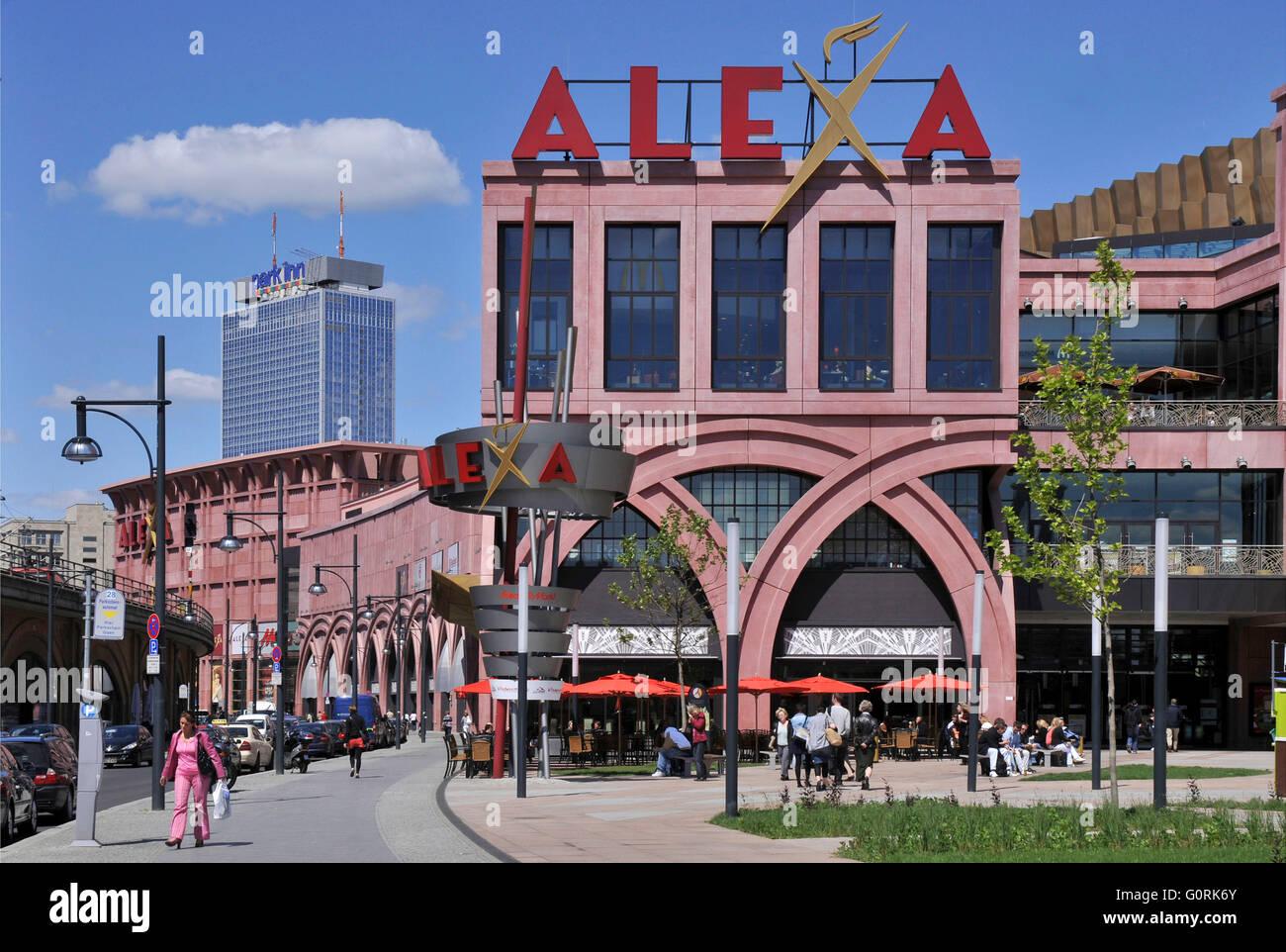 shopping mall alexa alexanderplatz dircksenstrasse mitte berlin stock photo 103782195 alamy. Black Bedroom Furniture Sets. Home Design Ideas