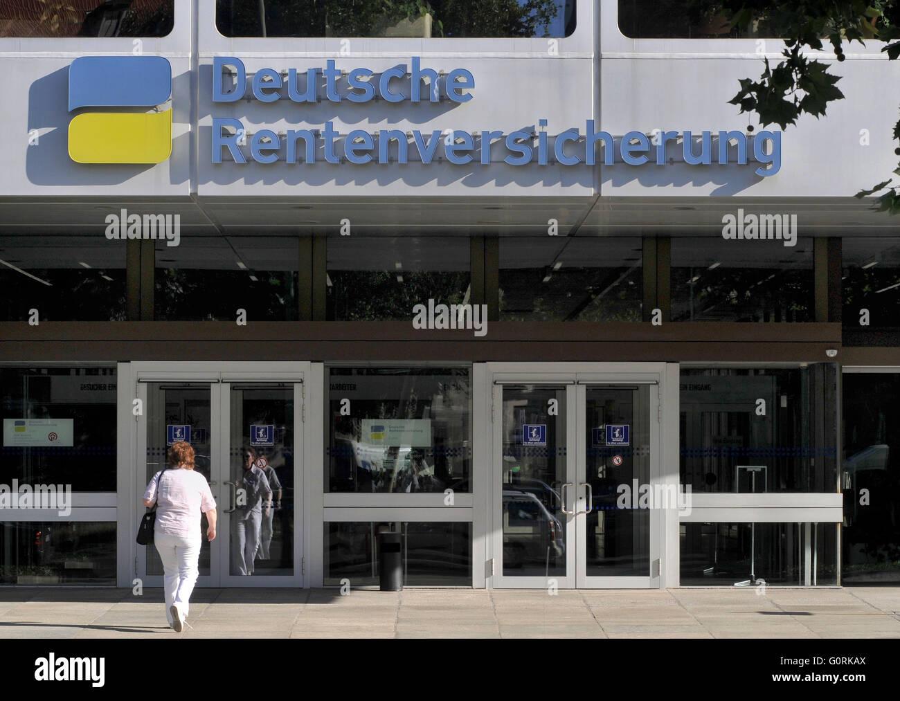 German Pension Insurance, Hohenzollerndamm, Wilmersdorf, Berlin, Germany Stock Photo