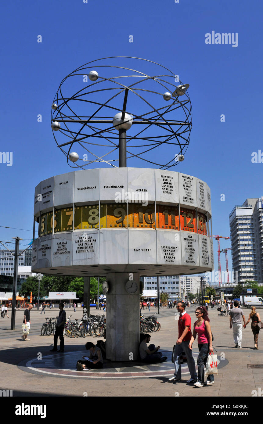 Urania World Time Clock, Alexanderplatz, Mitte, Berlin, Germany / Alexander Square Stock Photo