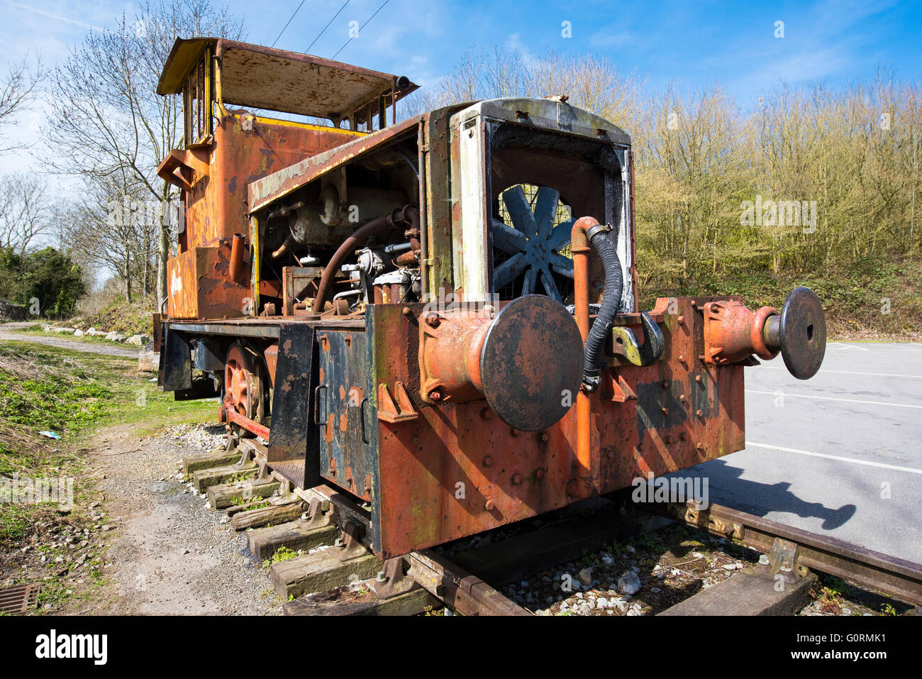 Abandoned Shunter - Stock Image