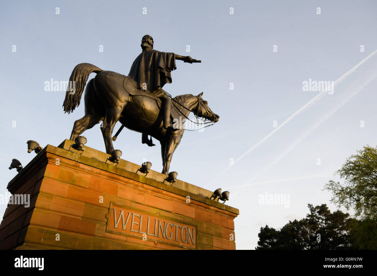 The Duke of Wellington by Matthew Cotes Wyatt (1777-1862) was originally built for Hyde Park, London and was later - Stock Image