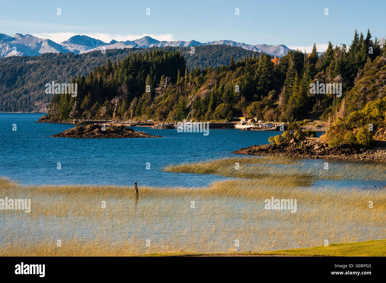Nahuel Huapi lake, Patagonia Argentina, from Panoramic Point near Bariloche - Stock Image