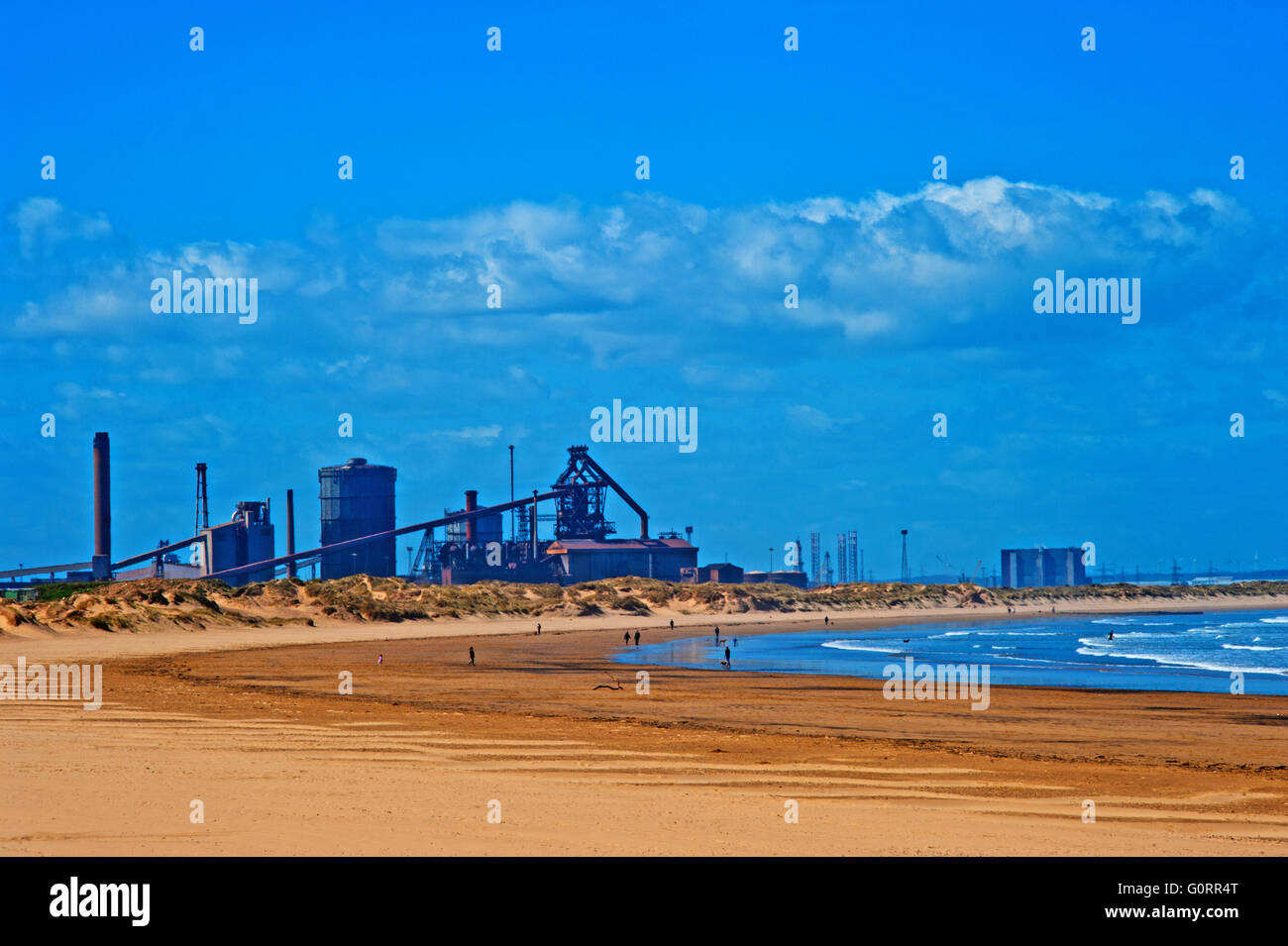 SSI Steel Plant, Redcar, Cleveland ( closed in October 2015 ) - Stock Image