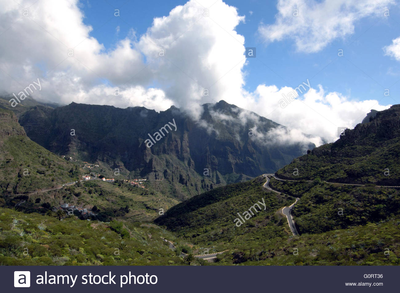Winding road to Masca, Tenerife, Canary Islands. April 07 - Stock Image