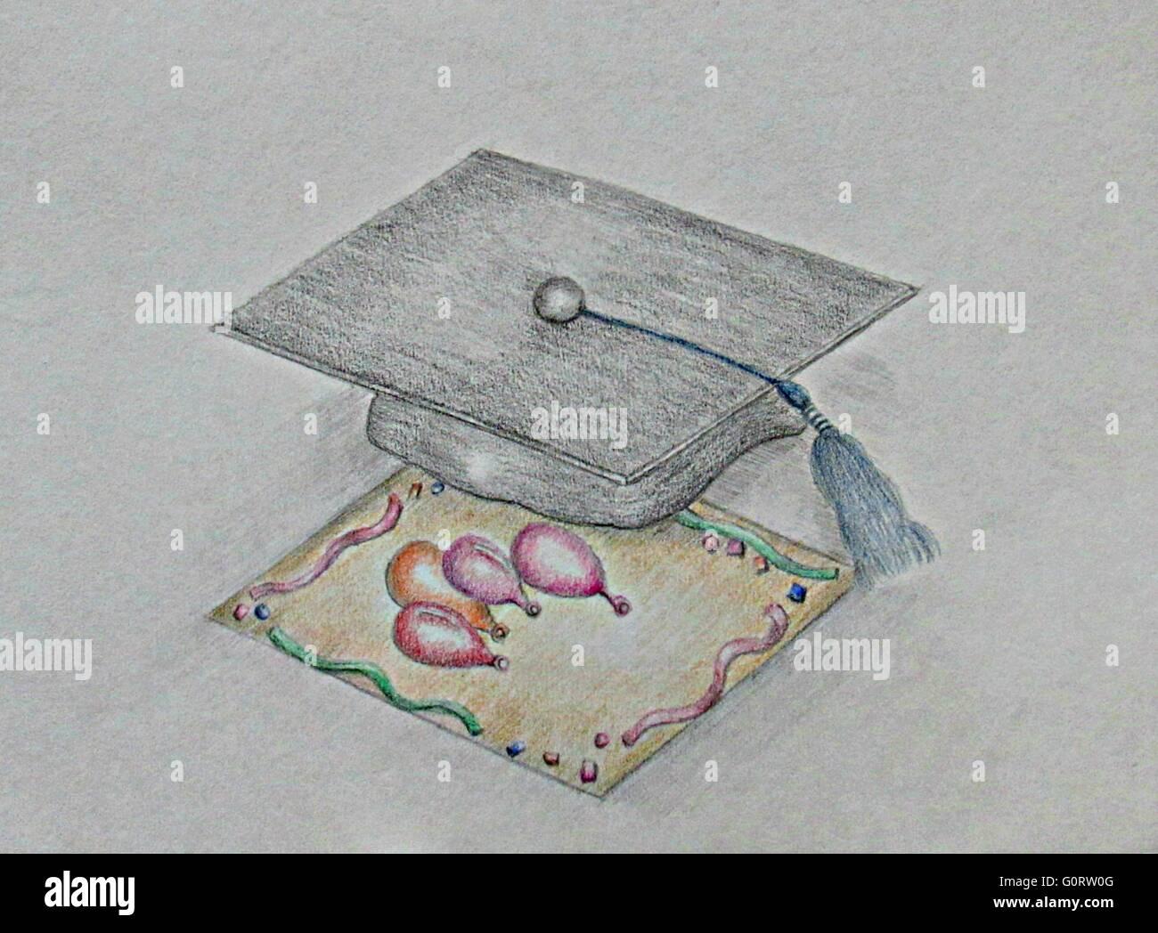 invitation Graduate - Stock Image