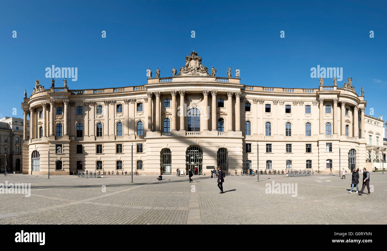 Law Faculty Building (former Altes Palais) of Humboldt University on Under den Linden in Mitte Berlin Germany - Stock Image