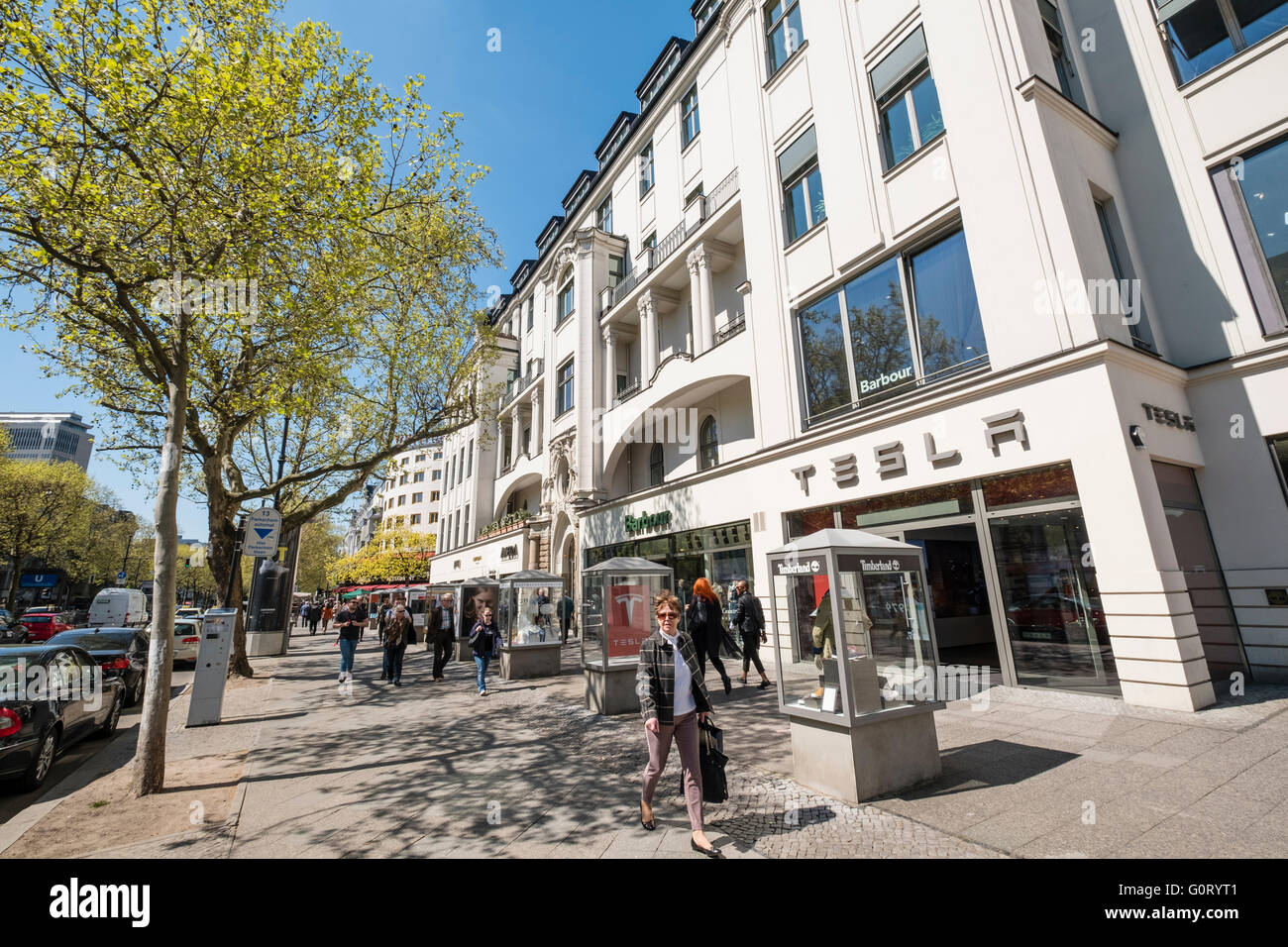 traditional architecture of shops on famous kurfurstendamm kudamm stock photo 103788945 alamy. Black Bedroom Furniture Sets. Home Design Ideas