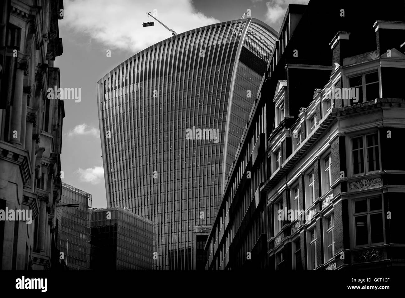 City of London, London, England,UK. 19 April 2016 Walkie Talkie building correctly known as 20 Fenchurch Street - Stock Image
