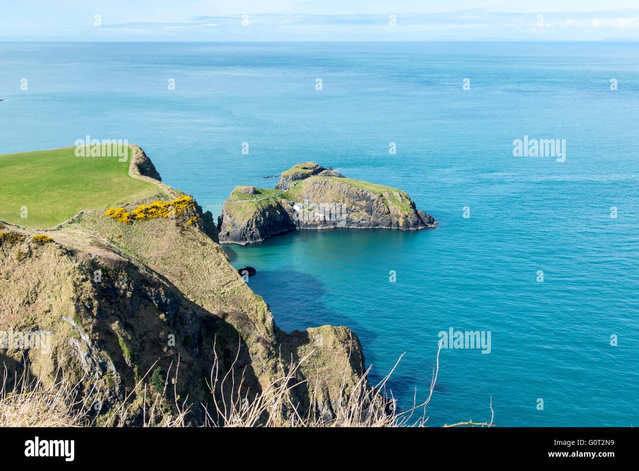 County Antrim Coast. Carrick-a-Rede. - Stock Image