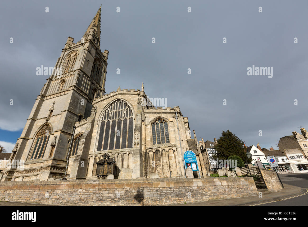 Stamford Church of All Saints, Lincolnshire, England, - Stock Image