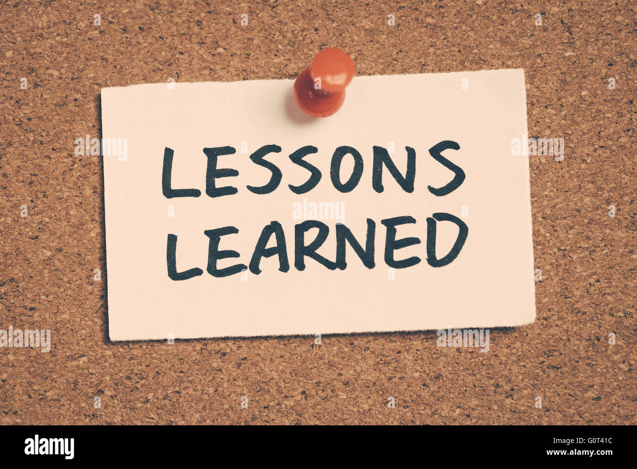 lessons learned - Stock Image