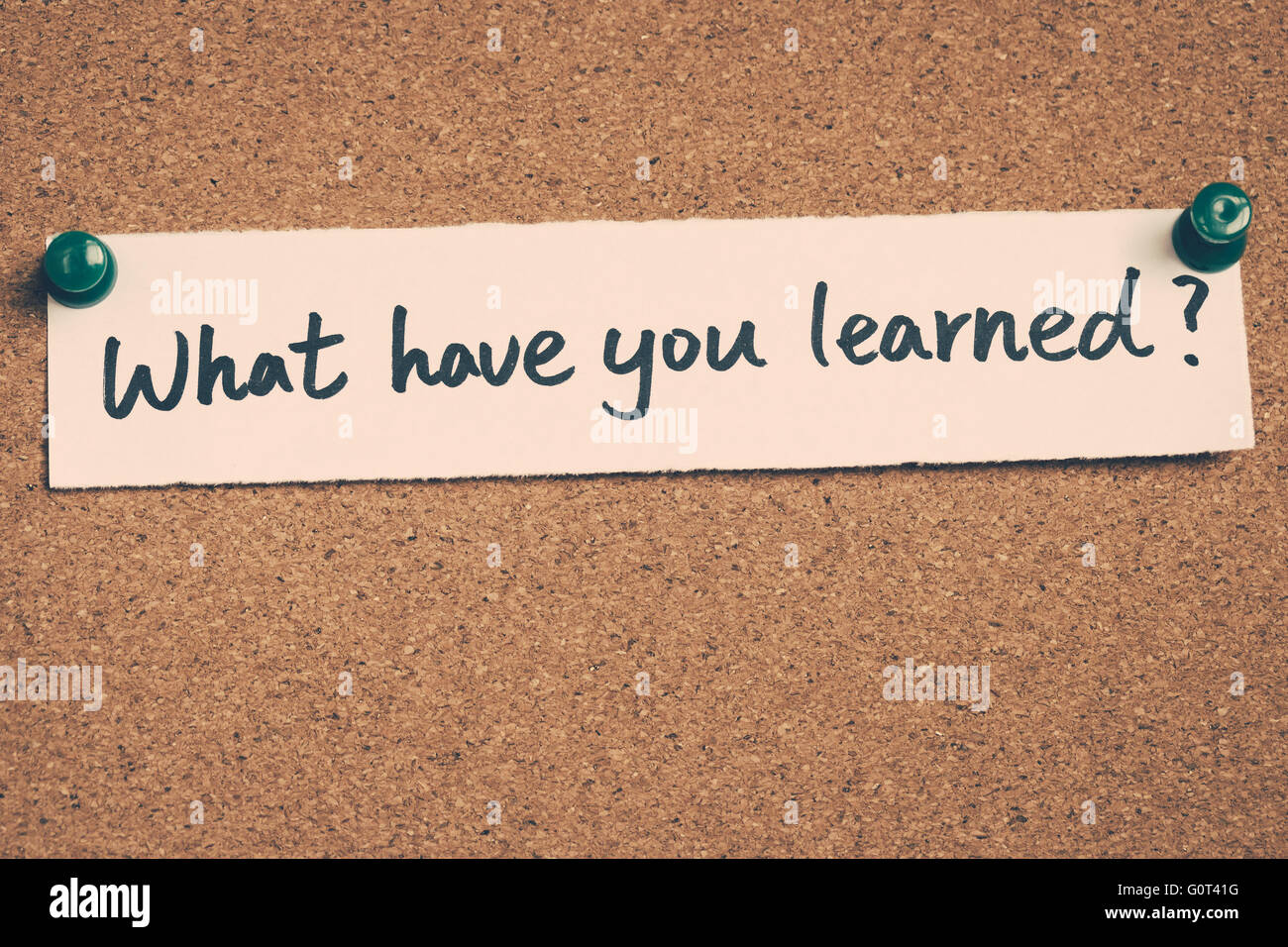 what have you learned - Stock Image