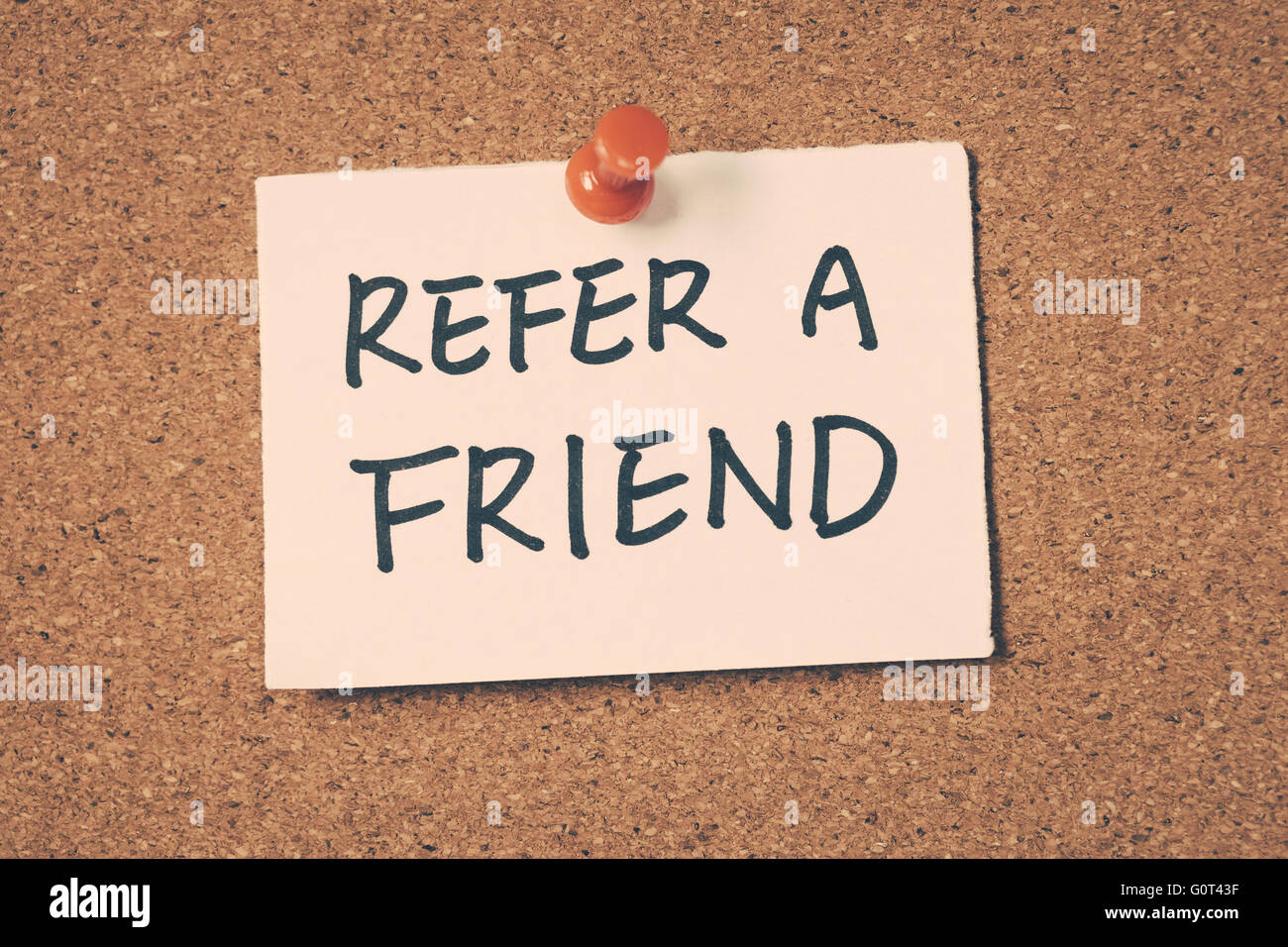 refer a friend - Stock Image