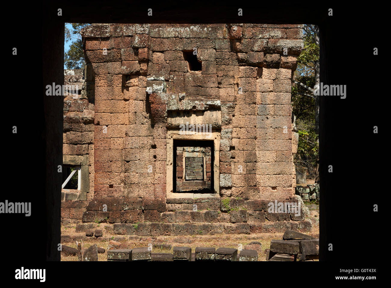 Suor Prat towers, Angkor Thom (12th century temple complex), Angkor World Heritage Site, Siem Reap, Cambodia - Stock Image