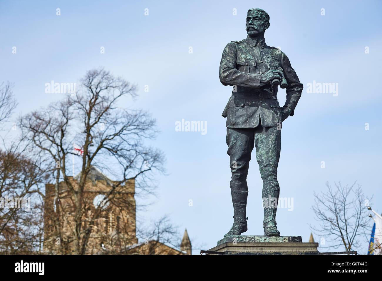 Hexham  market town civil parish Northumberland   The memorial to Lieutenant-Colonel George Elliott Benson at the - Stock Image