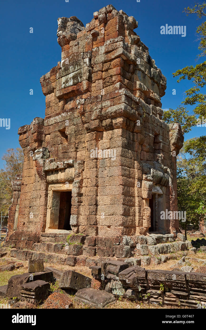 Suor Prat tower, Angkor Thom (12th century temple complex), Angkor World Heritage Site, Siem Reap, Cambodia - Stock Image