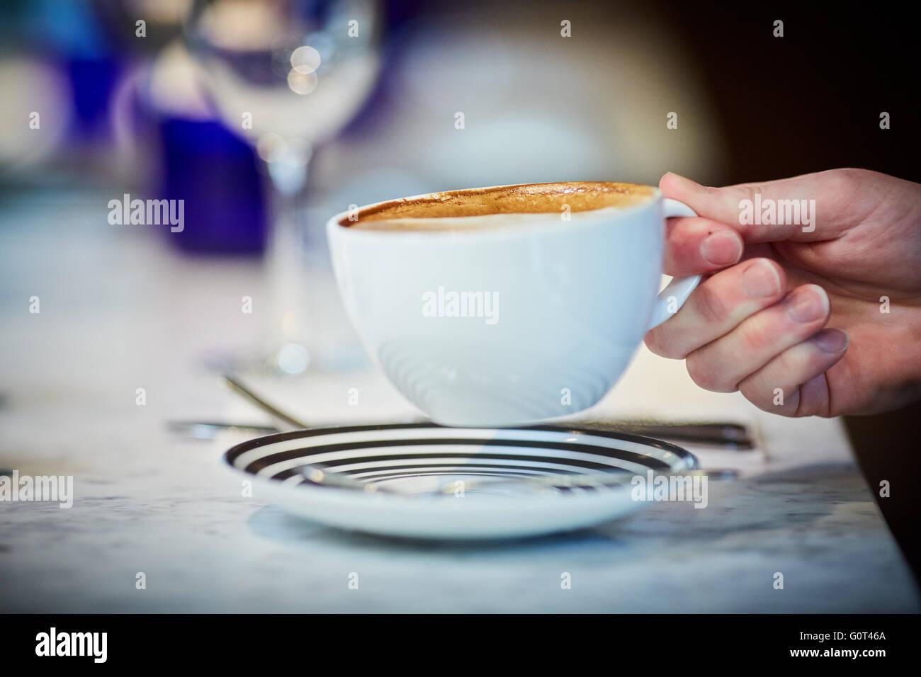 Coup of coffee large mug - Stock Image