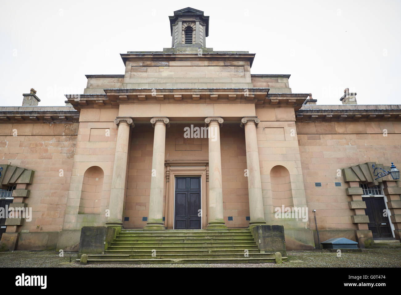 Knutsford historic town cheshire   Sessions House Toft Road Designed by George Moneypenny as part of the gaol. It - Stock Image